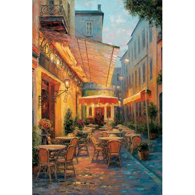 Café Van Gogh 2008, Arles France Painting Print on Wrapped Canvas Size: 12