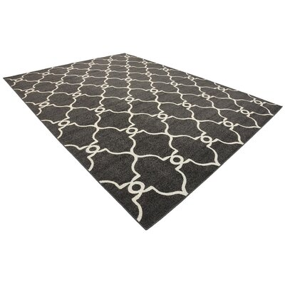 Gettinger Black Indoor/Outdoor Area Rug Rug Size: 5 x 8