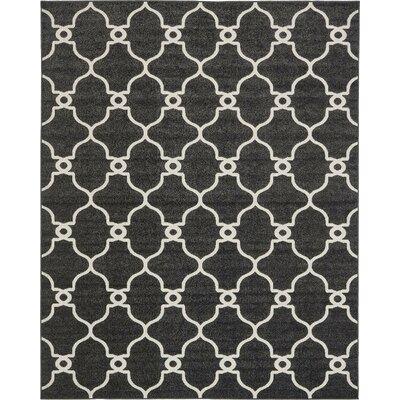 Gettinger Black Indoor/Outdoor Area Rug Rug Size: 8 x 10