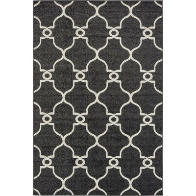 Gettinger Black Indoor/Outdoor Area Rug Rug Size: 6 x 9