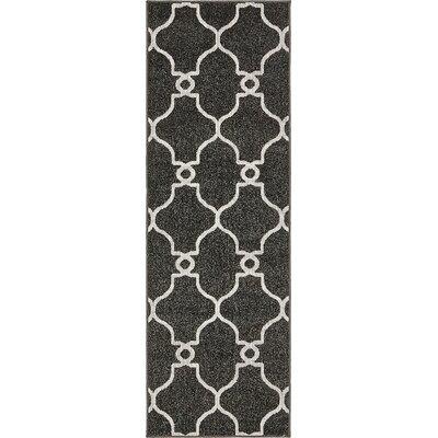 Gettinger Black Indoor/Outdoor Area Rug Rug Size: Runner 2 x 6