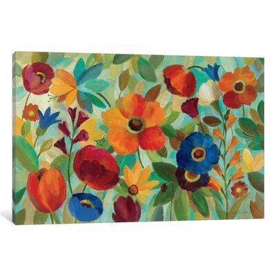 'Summer Floral' Print Format: Black Frame, Size: 16