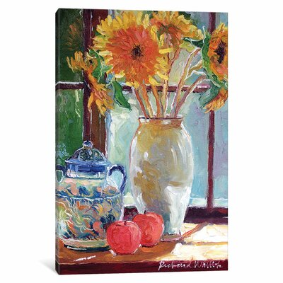 Sunflowers in a Vase Painting Print on Wrapped Canvas
