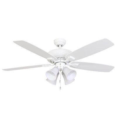52 Carol 4-Light 5-Blade Ceiling Fan