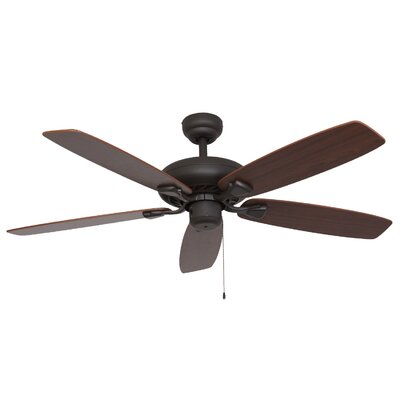 52 Carol 5-Blade Indoor Ceiling Fan Finish: Bronze
