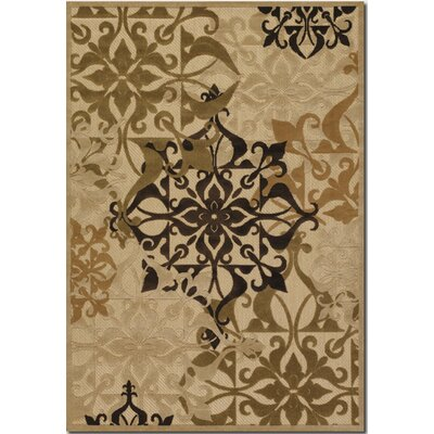 Clarendon Sand Indoor/Outdoor Area Rug Rug Size: 52 x 76
