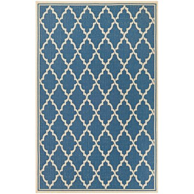 Cardwell Blue Indoor/Outdoor Area Rug Rug Size: Rectangle 39 x 55