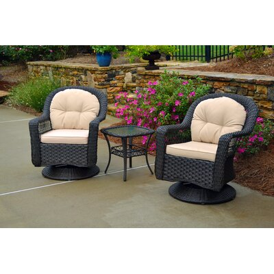 Gleeson 3 Piece Seating Group with Cushion Finish: Espresso