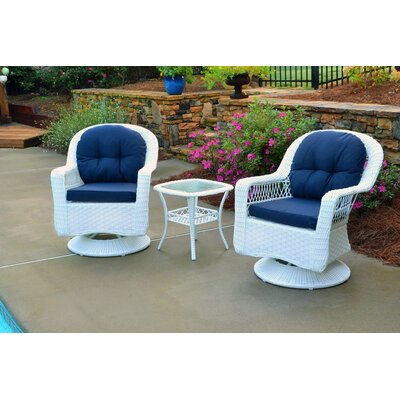 Gleeson 3 Piece Seating Group with Cushion Finish: White
