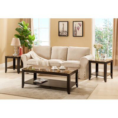 Norris 3 Piece Coffee Table Set Color: Cappuccino