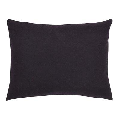 Odile Burlap Black Sham Size: Standard