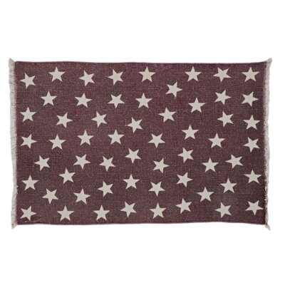Rachel Antique Red Star Area Rug Rug Size: Rectangle 23 x 4