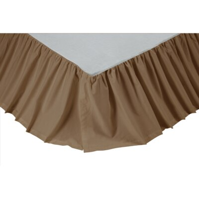 Sabrina Solid Bed Skirt Size: Twin, Color: Khaki