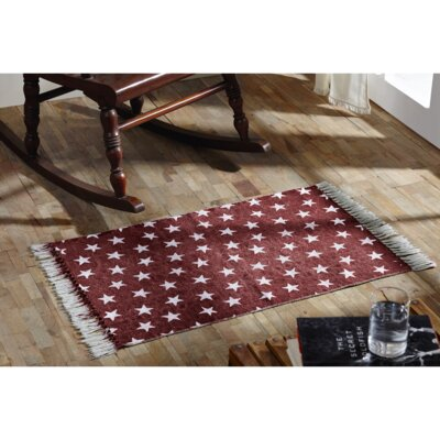 Noel Red/White Area Rug Rug Size: 23 x 4