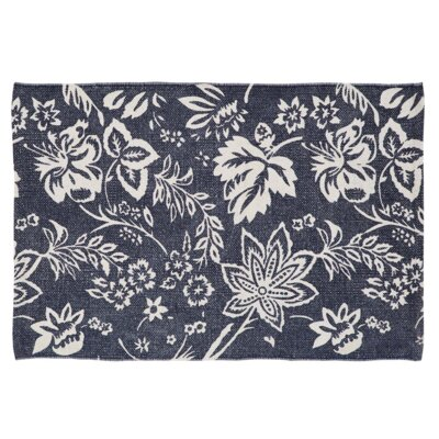 Messina Navy Area Rug Rug Size: 2'3