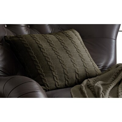 Gilland Cable Knit Cotton Deco Pillow Color: Taupe