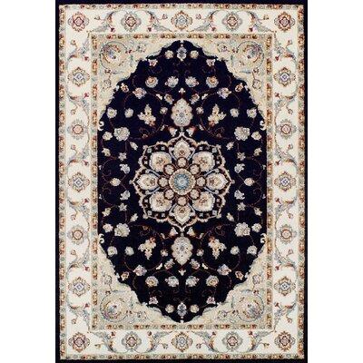 Gilliland Ebony/Sand Area Rug Rug Size: 92 x 125
