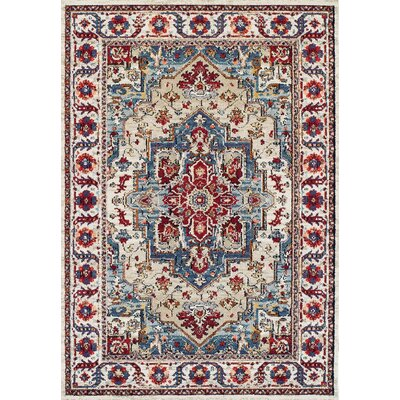 Gillison Putty/Claret Area Rug Rug Size: Rectangle 92 x 125