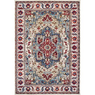 Gillison Putty/Claret Area Rug Rug Size: 92 x 125