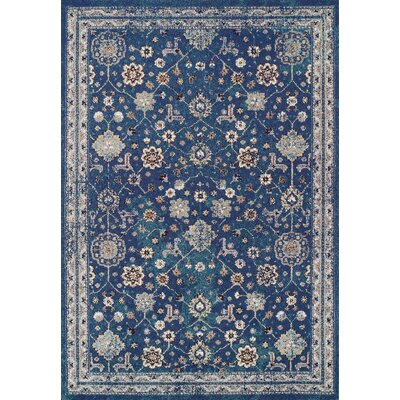 Gingerich Denim Area Rug Rug Size: Rectangle 53 x 76