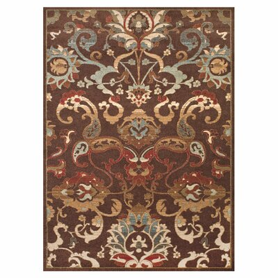Cardella Chocolate Area Rug Rug Size: Rectangle 5 x 8