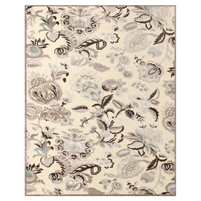 Cardone Cream/Gray Area Rug Rug Size: Rectangle 22 x 4