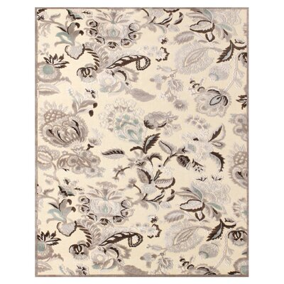 Cardone Cream/Gray Area Rug Rug Size: 2'2