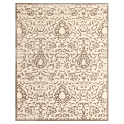 Chafin Beige Area Rug Rug Size: Rectangle 98 x 127
