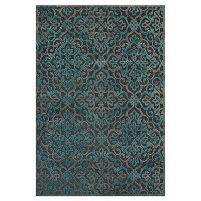 Channahon Dark Gray/Marine Area Rug Rug Size: Rectangle 76 x 106