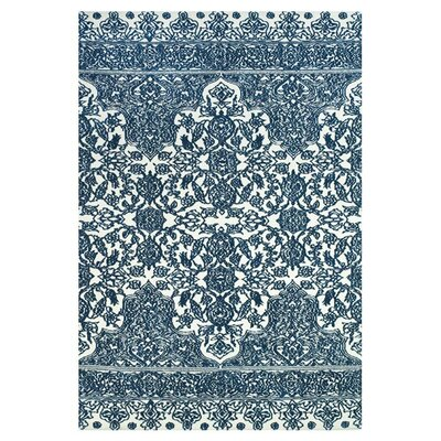 Clowers Light Blue/Ivory Area Rug Rug Size: 36 x 56
