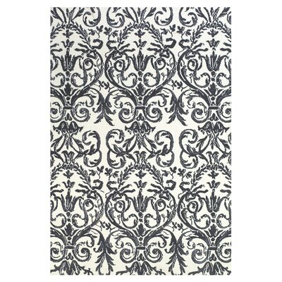 Cobden Slate / White Rug Rug Size: 2 x 3