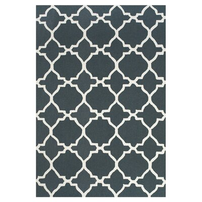 Cockerham Gray/White Area Rug Rug Size: Rectangle 36 x 56