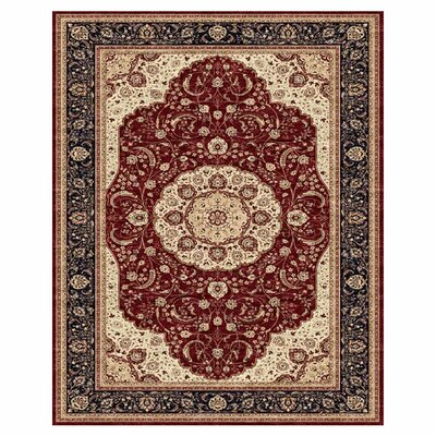 Coddington Red / Navy Rug Rug Size: 91 x 132