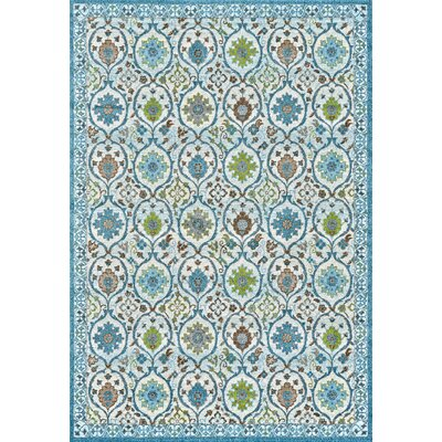 Colegrove Blue Area Rug Rug Size: Rectangle 22 x 4