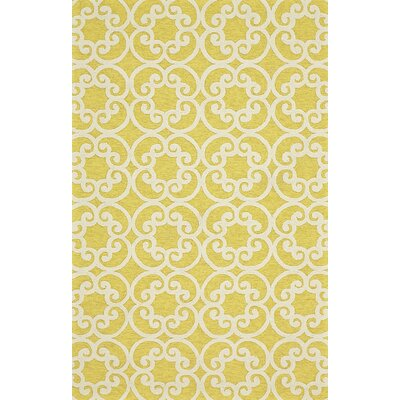 Colley Yellow Indoor/Outdoor Area Rug Rug Size: 36 x 56