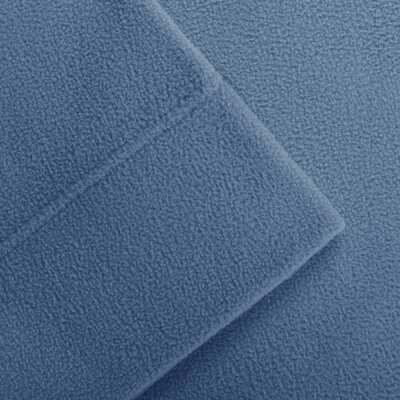 Butlerville 4 Piece Micro Fleece Sheet Set Color: Blue, Size: Cal King