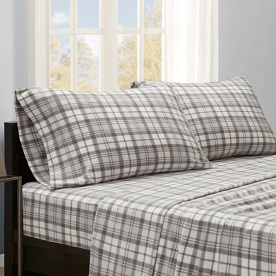 Abingdon Sheet Set Size: King, Color: Gray Plaid