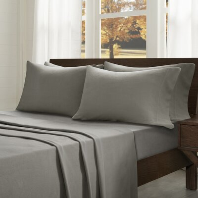 Abingdon Sheet Set Size: Full, Color: Gray