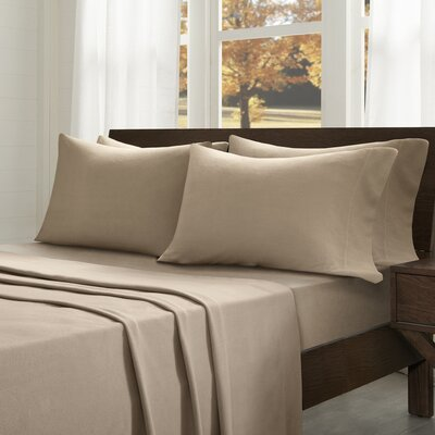 Abingdon Sheet Set Size: King, Color: Tan