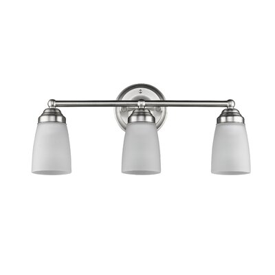 Candelaria 3-Light Vanity Light Finish: Brushed Nickel