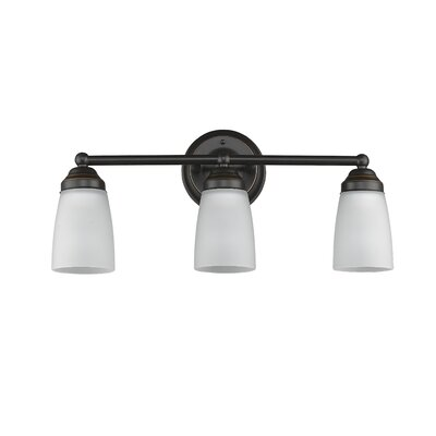 Candelaria 3-Light Vanity Light Finish: Light Bronze