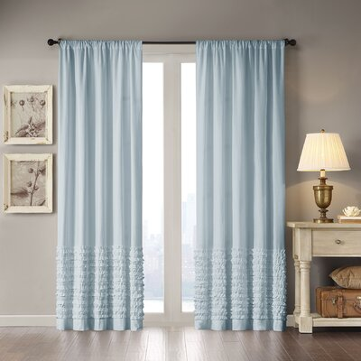 Ruffle Cotton Rod Pocket Curtain Panel
