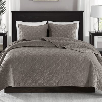 Bruggeman 3 Pieces Coverlet Set Size: King/California King, Color: Taupe
