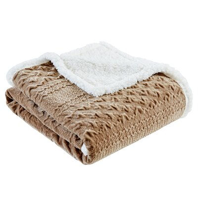 Edmond Textured Plush Throw Color: Taupe