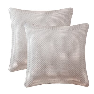 Malden Texture Jacquard Throw Pillow Color: Natural