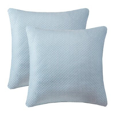 Malden Texture Jacquard Throw Pillow Color: Aqua