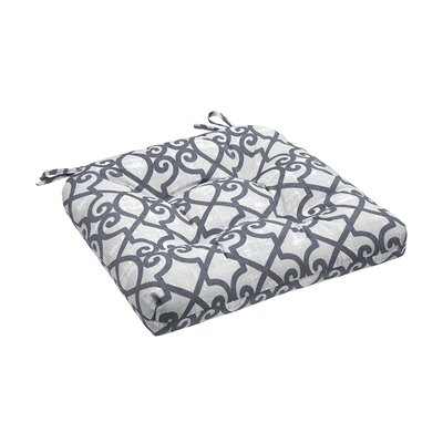 Barrows Printed Fretwork 3M Scotchgard Outdoor Cushion Fabric: Grey