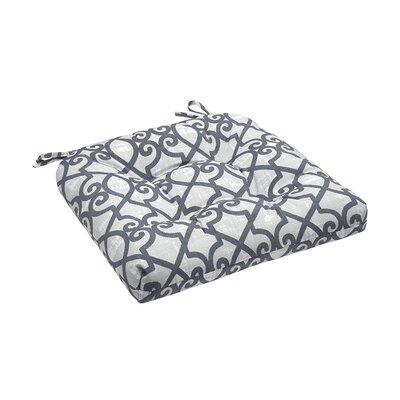 Barrows Printed Fretwork 3M Scotchgard Outdoor Cushion Fabric: Grey