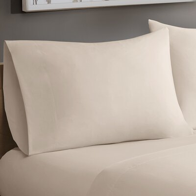 Avon Forever Percale Pillowcases Size: King, Color: Ivory