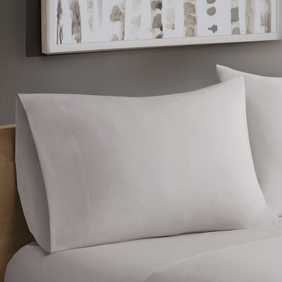 Avon Forever Percale Pillowcases Size: King, Color: Grey